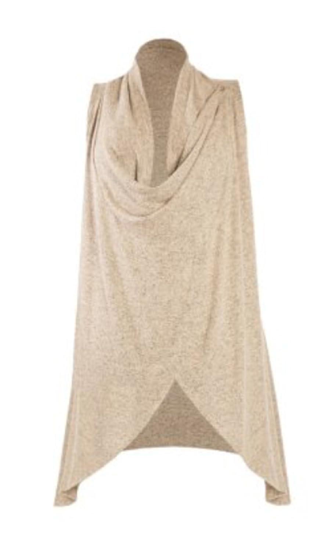 Olivia Sky Womens Cozy Convertible Sleeveless Cardigan XX-large, chino