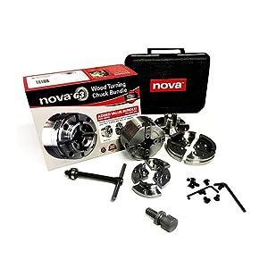 Nova TK-48246 Direct Thread 1 Inch Small Wood Turning Chuck