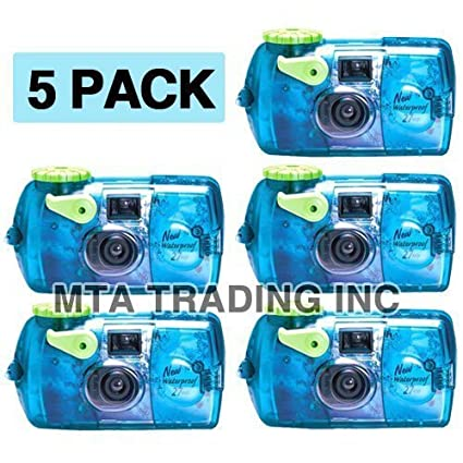 Fujifilm Quick Snap Waterproof 35mm Fuji Disposable Single Use Underwater Camera 5 Pack