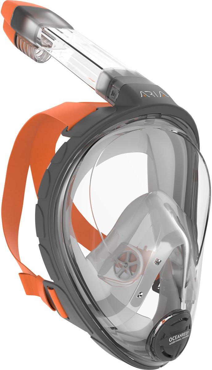 Ocean Reef ARIA Snorkeling Mask Easy Breath Full Face Design, Anti-Fog Snorkel (Small/Medium)