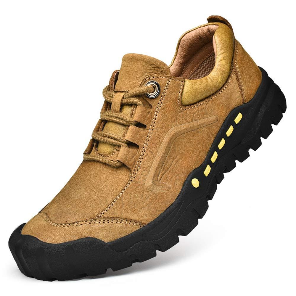 Qiusa Herren Outdoor Trainer Klettern Walking Soft Sole Rutschfeste Durable Trainer (Farbe   Gelb, Größe   EU 41)