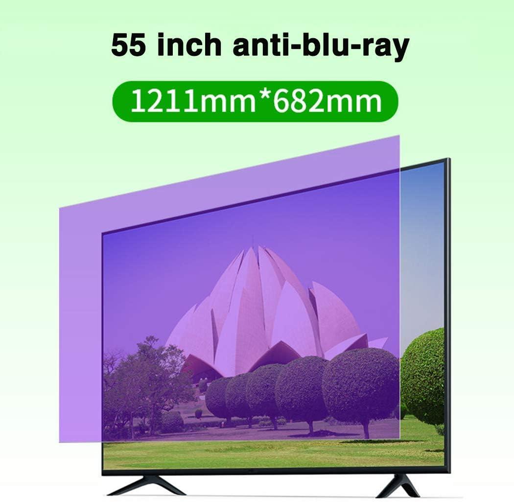 HDCW 55 Pulgadas de Pantalla Anti-Blue Light TV protección Protector/Radiación/Anti-UV, Resistente a los arañazos de la película, para Sharp, Sony, Samsung, Hisense, LG Etc,B: Amazon.es: Hogar