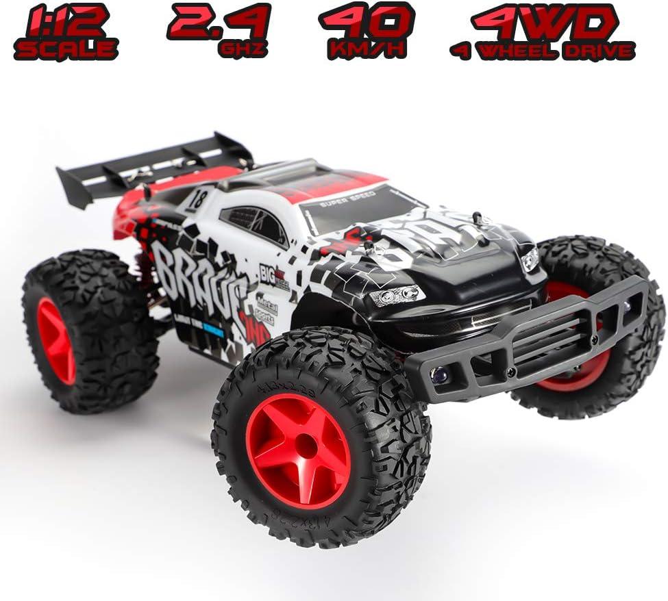amazon com cars remote \u0026 app controlled vehicles toys \u0026 gameskoowheel rc car, 2 4ghz 30mph high speed remote control cars 1 12 scale