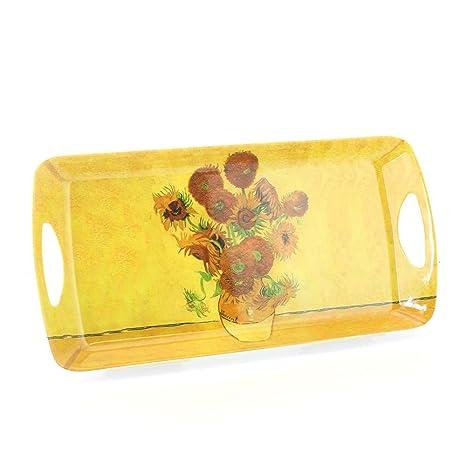 Bandeja de melamina para sándwich con diseño de girasoles de Van Gogh