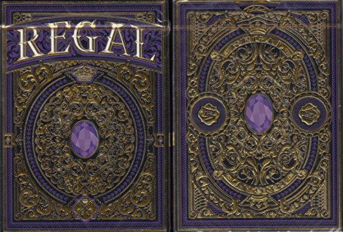 Regal Purple Playing Cards Poker Size Deck EPCC Custom Limited Edition by Regal