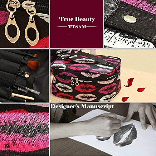 Toiletry Bags Small Cosmetic Bag Kiss Lips 82300efa8d11b