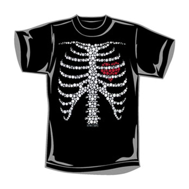 Black t shirt with white stripes - White Stripes Men S Button Skeleton Slim Fit T Shirt Black