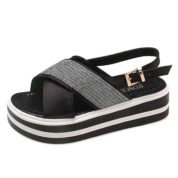 FRAUIT Zapatos Planos De Punta Abierta Puntadas Diamante De Imitación Sandalias De Tiras Cruzadas Zapatos Casuales Sandalias Planas: Amazon.es: Ropa y ...