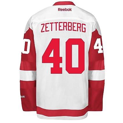 e78112454 Henrik Zetterberg 2016-17 Detroit Red Wings White REEBOK Premier Team  Player Jersey Men s