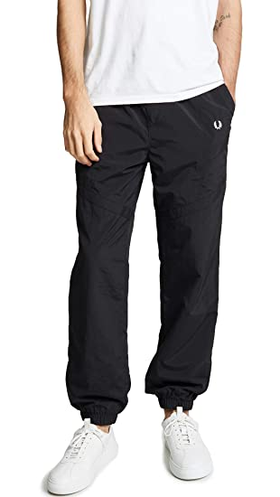 dac330c9a74c Fred Perry Men's Monochrome Shell Suit Joggers Black: Amazon.co.uk: Clothing