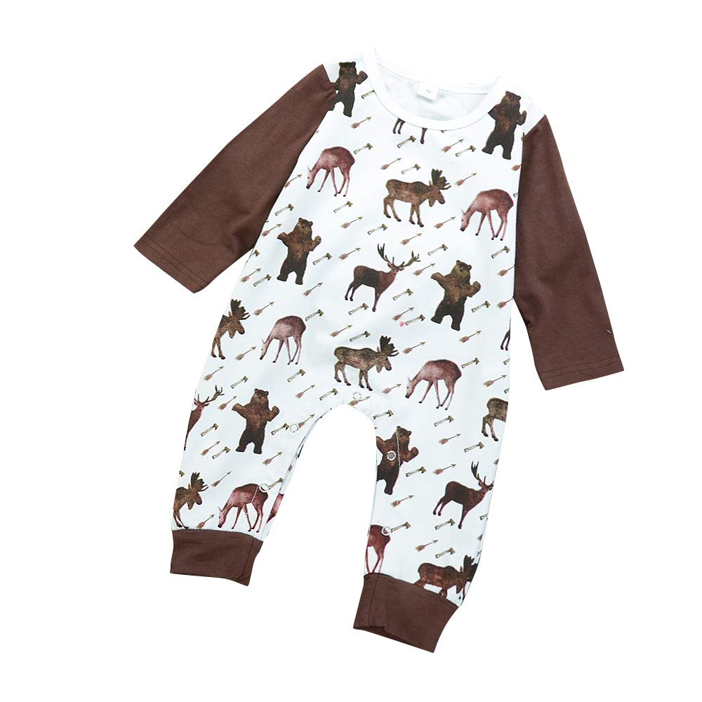 Infant Animal Printed Romper,Pajama-Toddler Long Sleeve Jumpsuit BY220