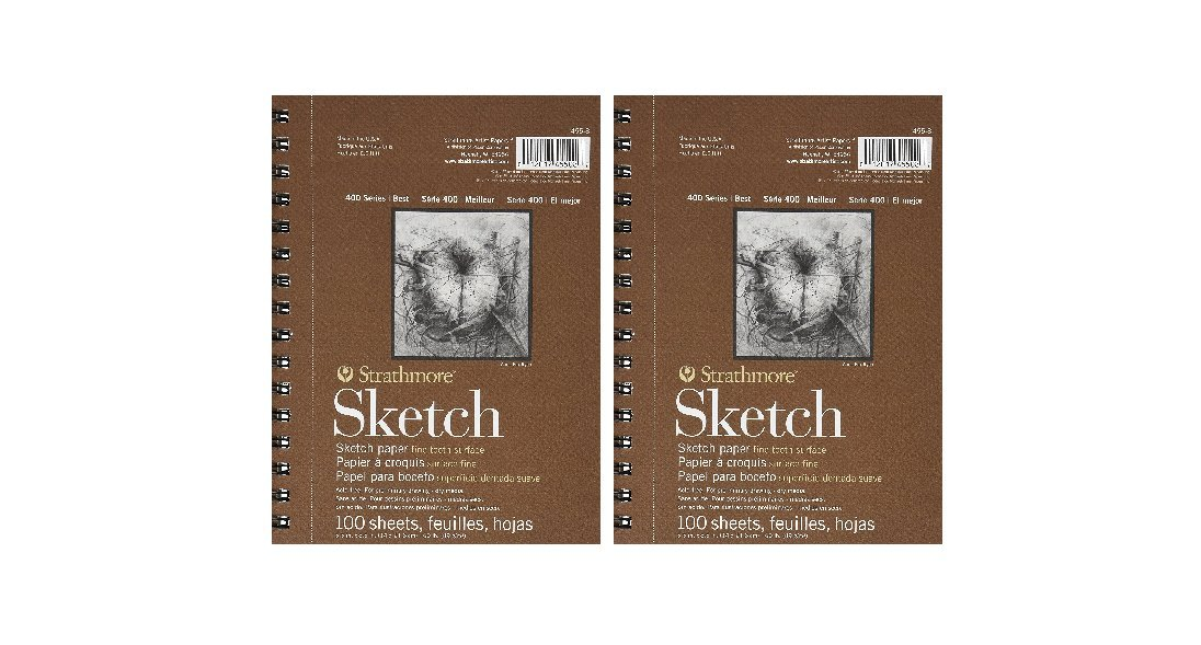 5.5 by 8.5-Inch 3-PACK Strathmore 455800 60-Pound 100-Sheet Strathmore Sketch Paper Pad