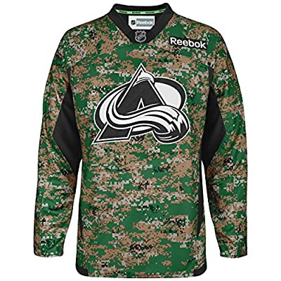 Reebok Colorado Avalanche Practice V-Neck Army Jersey - Digital Camo