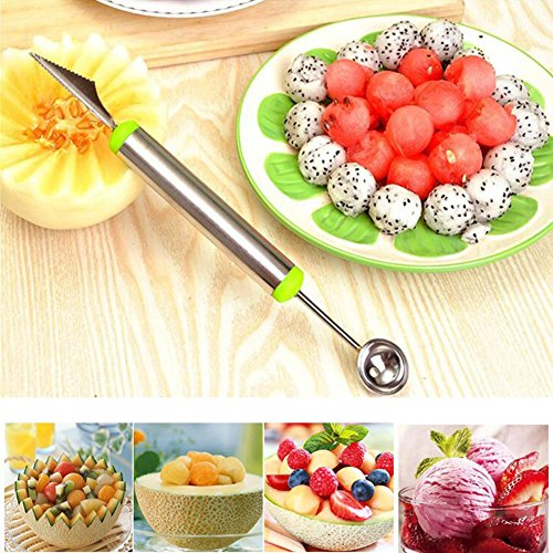 heaven2017 Fruit Melon Carving Spoon Stainless Steel Baller Digging Tools (Random Color) by heaven2017 (Image #2)