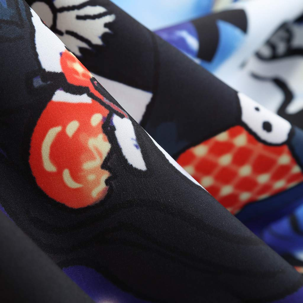 Jessie Women Halloween Pumpkin Print Dress Ladies O-Neck Long Sleeve Audrey Hepburn Skirt Party Swing Dress,