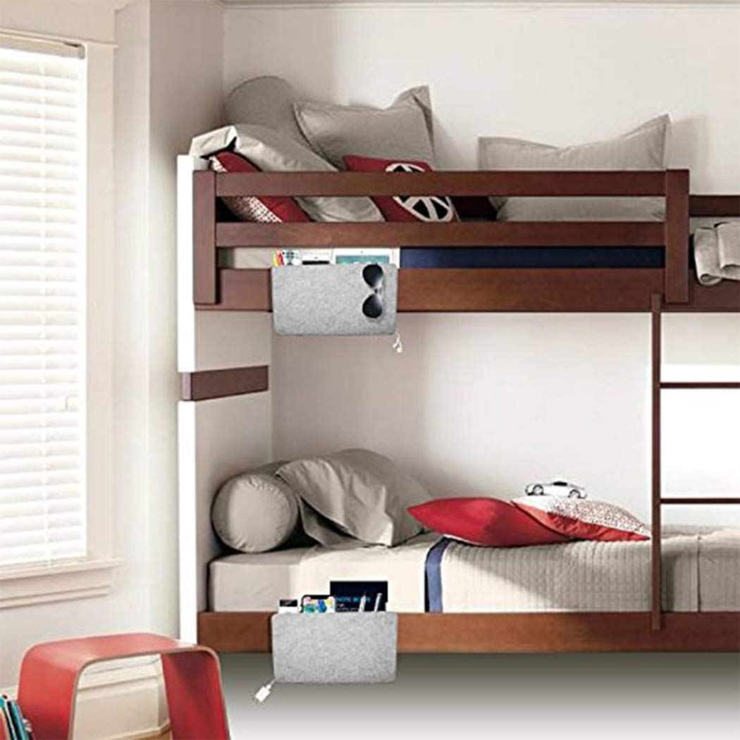 nulala Caddy Bedside Bedside Pocket Aufbewahrungstasche Caddy Bed Tidy Pocket Organizer Filz Aufbewahrungstasche Betttasche Fernbedienung H/ängebeutel Haushaltsartikel Pink