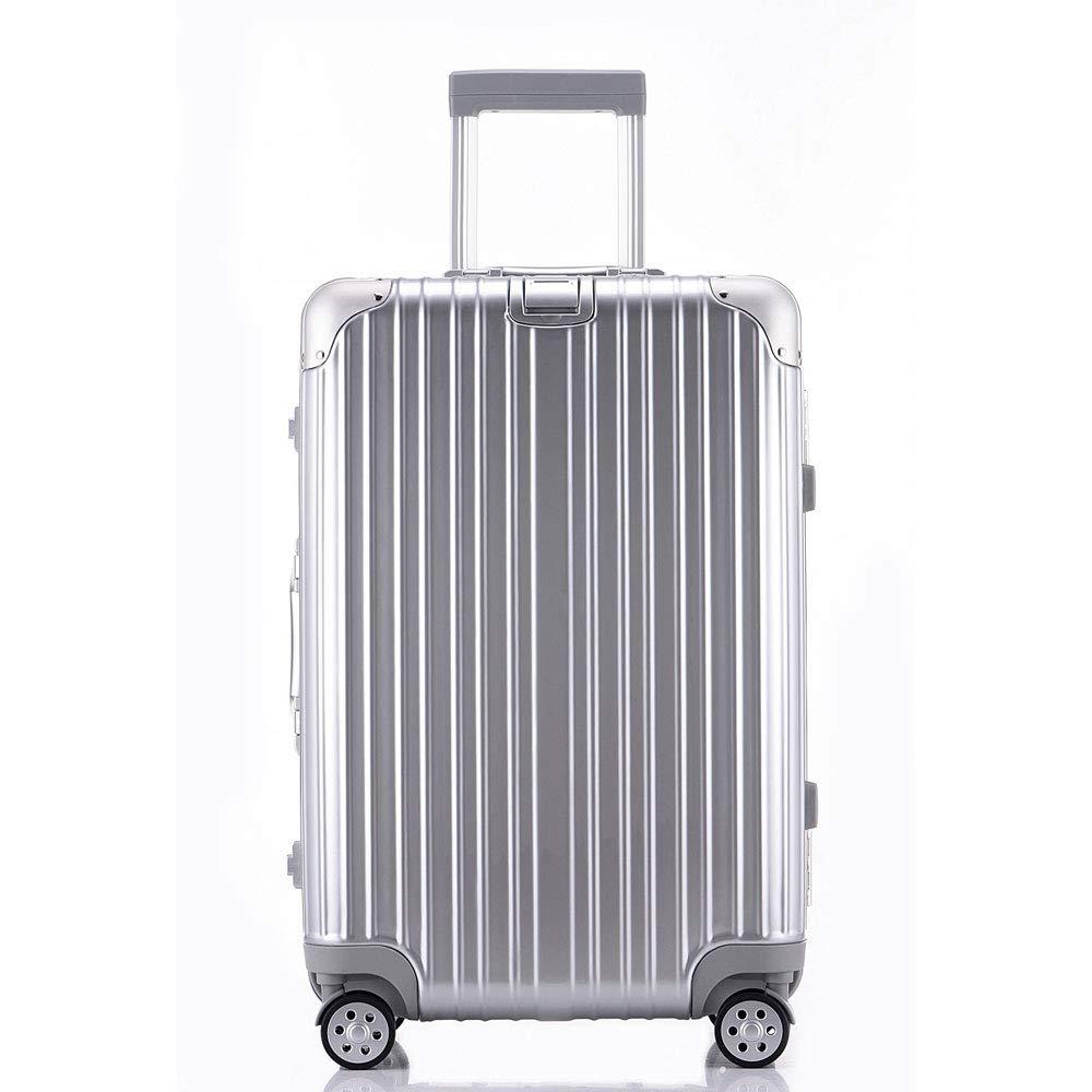 24インチトロリー荷物キャスタースーツケースアルミフレームビジネスボックス学生ボックス20インチ缶ボード (Color : シルバー しるば゜, Size : 24 inches)   B07RJBQT4T