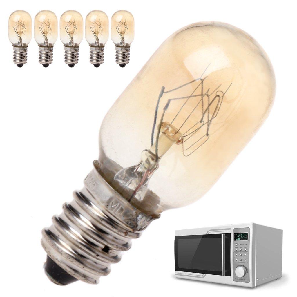 Freshsell 5/pcs Four /à Micro-Ondes suppl/émentaire Ampoule 230/V 20/W Lampe en Verre Fixation /à vis pour