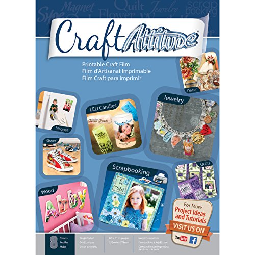 Price comparison product image Craft Attitude Adhesive Sheets, 8-Sheet, 8.5 by 11-Inch