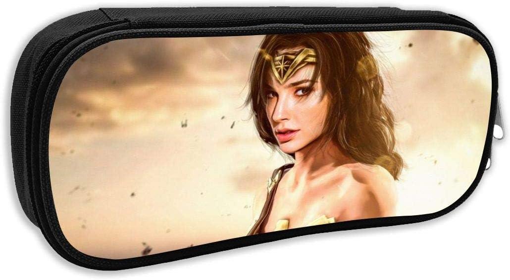 BFGTH Movie Hero Wonder Woman Bolsa para lápices Organizador de papelería Bolsa de maquillaje cosmético multifunción, soporte perfecto para lápices y bolígrafos para estudiantes: Amazon.es: Oficina y papelería