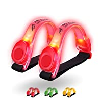 3AMGO Reflective Outdoor Running Light - High Visibility Outdoor Exercise Safety Light Running Jogging Walking Cycling Hiking Camping Gear & Equipment Weather Resistant Easy to Use (Twin Pack)