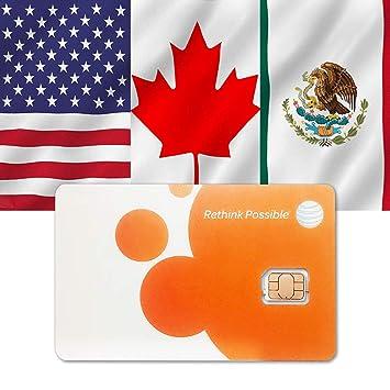 AT&T Prepaid sim USA Canada -Mexico Negro Adaptador de Cable ...