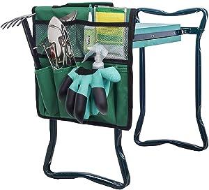 Folding Garden Kneeler Seat Bags Kneeling Pad Garden Tools Bags Gardening Tote Bag Gardeners Bench Kneeling Bag Caddy Bags Gardeners Storage Bag Tote Organizer Yard Tool Carrier Bag Hand Tool Storage