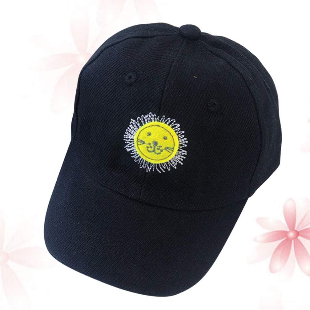 PRETYZOOM Child Sun Baseball Cap Cotton Baseball Hats Sun Visors Cap for Boys Girls Outdoor Travel 1-5 Year-old Yellow