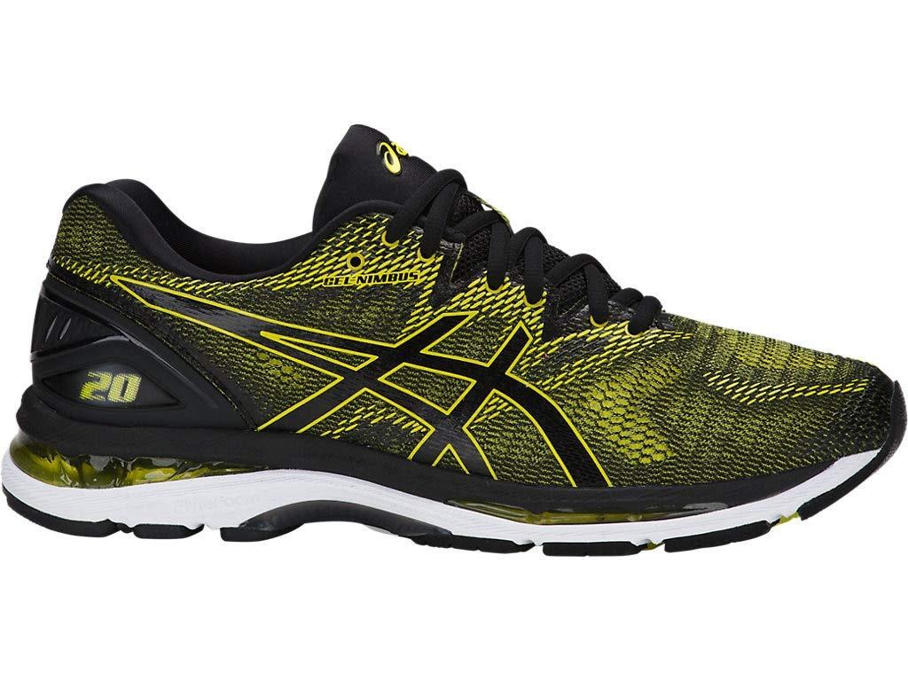 ASICS Men's Gel-Nimbus 20 Running Shoe, Sulphur Spring/Black/White, 10.5 Medium US by ASICS