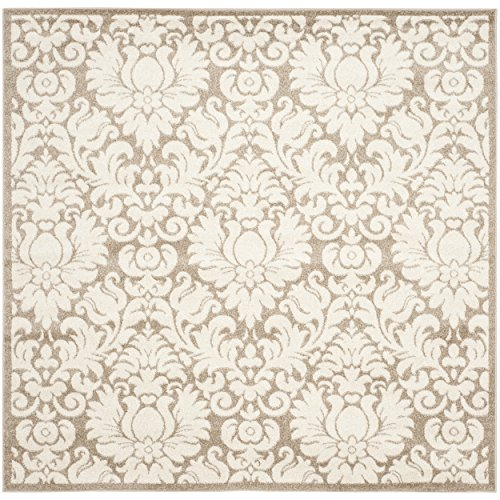 (Safavieh Amherst Collection AMT427S Wheat and Beige Indoor/ Outdoor Square Area Rug (7' Square))