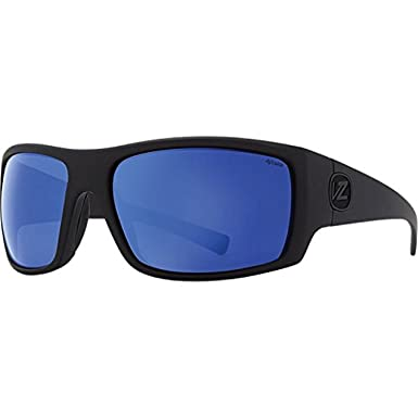 c957e98873cc7 Von Zipper Suplex Sunglasses Black Satin Wild Blue Flash Polarized   Carekit