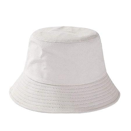 TREESTAR Sombrero de Pescador Monocromo de Doble Capa Unisex para ...