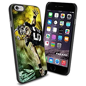NFL Green Bay Packers Clay Matthews, Cool iPhone 6 Smartphone Case Cover Collector iphone TPU Rubber Case Black