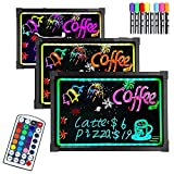 Hindom Erasable LED Writing Board with 8 Mark Pens for Coffee Shop, Craft Beer Bar, Restaurant DIY Writing