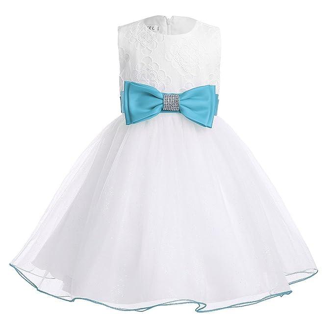 Freebily Vestido de Princesa Boda Fiesta Comunión para Bebé Niña Recién Nacido (3 Meses-