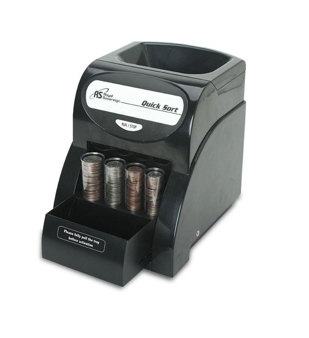 Quick Coin Sorter Money Counter Machine Change Electric Count Wrapper Business by Sawan Shop