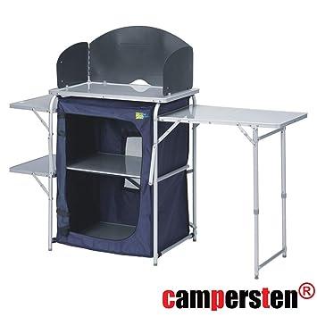 CAMPING KÜCHE faltbar /& Windschutz Reise Faltschrank Outdoor Campingmöbel *NEU*