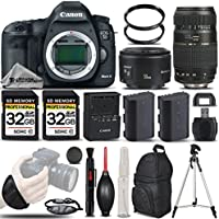 Canon EOS 5D Mark III DSLR Body 22.3MP Full HD 1080p + Canon 50mm 1.8 II Lens + Tamron 70-300mm Lens+ Backup Battery + 2 Of 32GB Memory Card. All Original Accessories Included - International Version