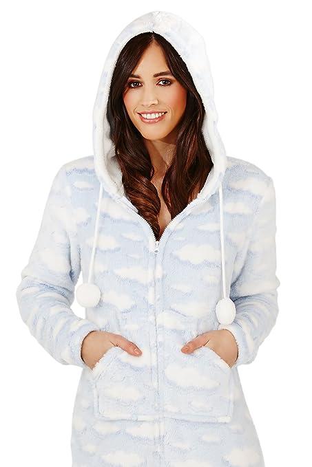 Loungeable - Pijama para mujer, diseño de nubes azul Cloud - Onesie Talla L: Amazon.es: Ropa y accesorios