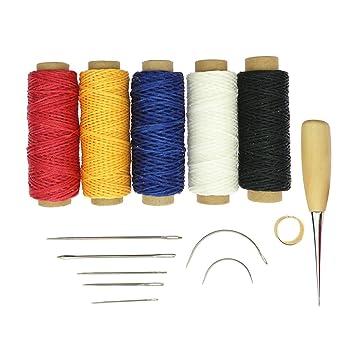D DOLITY Kit de 14x Equipo de Hilo Pin DIY Punzón Dedal Fácil de Usar Lana Fijación Costura Reparación Lienzo: Amazon.es: Hogar
