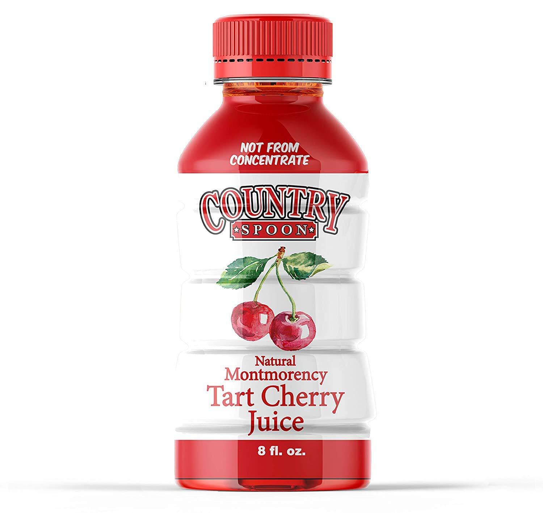 Country Spoon Tart Cherry Juice, 70+ Cherries Per 8 oz, 14 Pack | No Sugar Added. Made Entirely From Utah Grown Montmorency Tart Cherries
