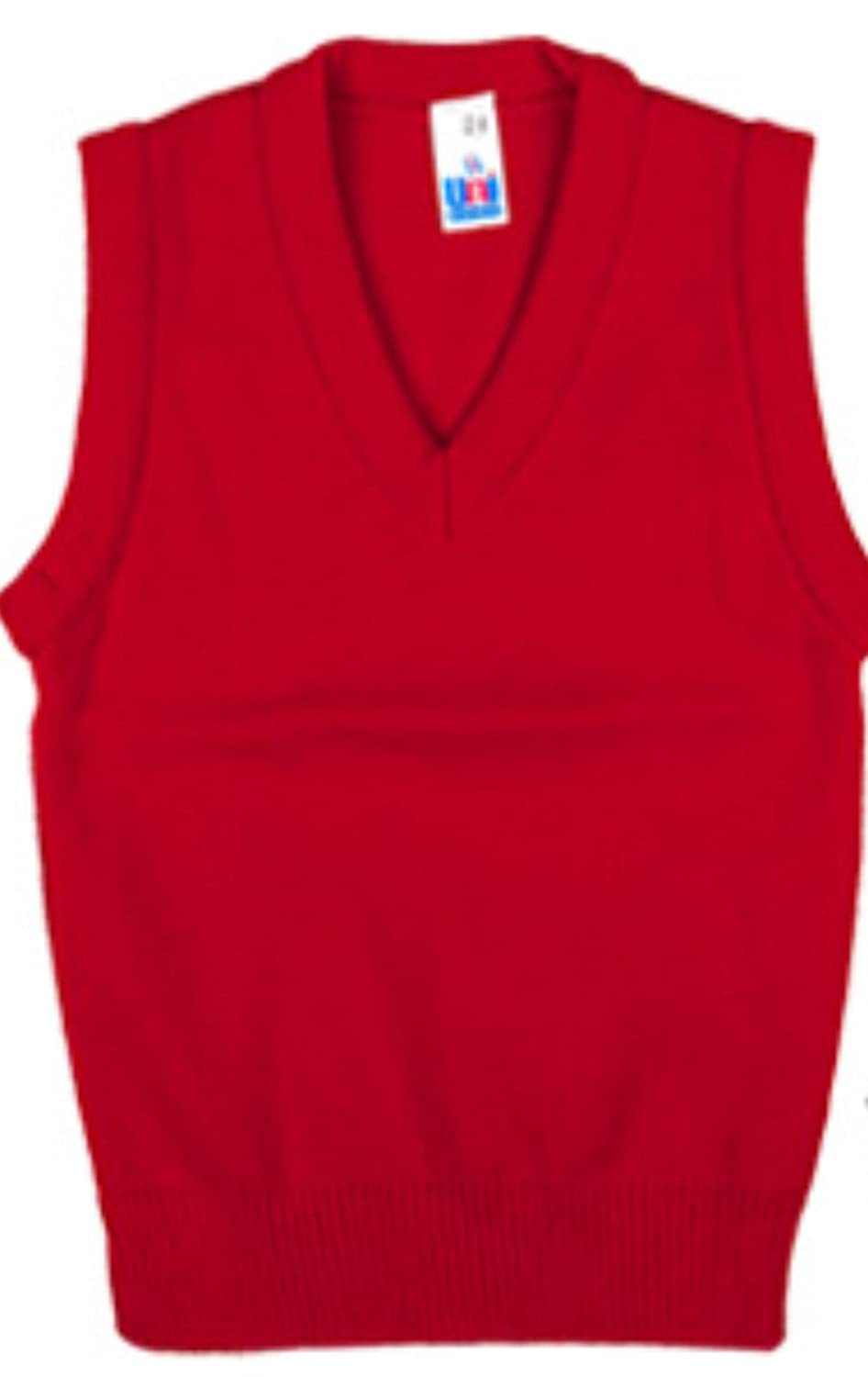 School Uniform V Neck Tank Top Sleeveless Jumper NEW Unique