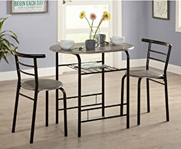 Amazon.com - Small Kitchen Table and Chairs 2 Dining Room Sets for ...