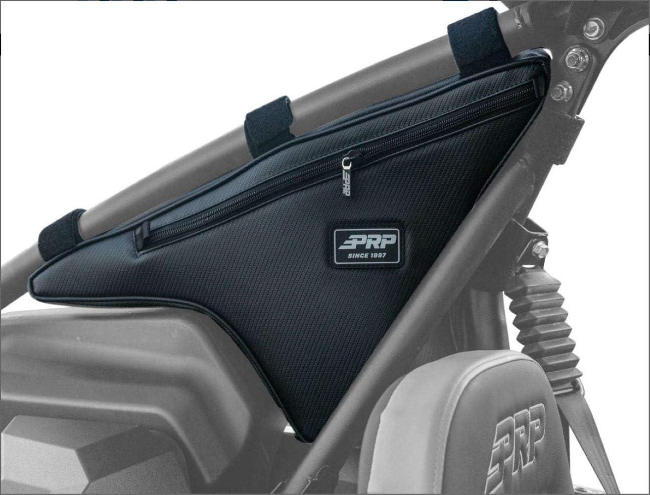 PRP Seats E88 Waterproof Vinyl Kawasaki KRX UTV Utility Vehicle Driver Passenger Truss Storage Zippered Bag Black