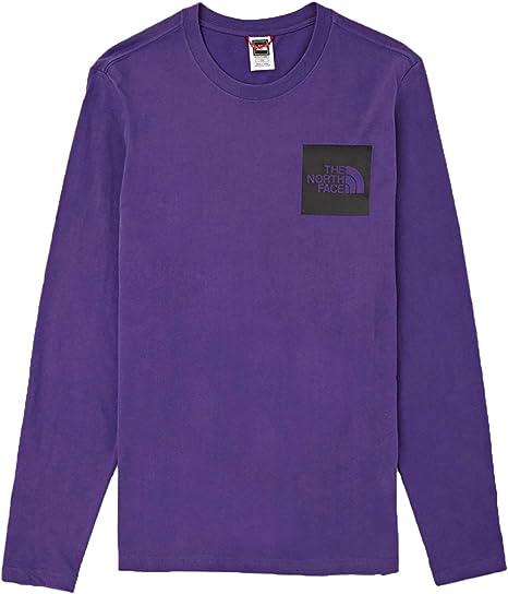 THE NORTH FACE camiseta de manga larga para hombre NF0A37FTN5N1 M L / S FINE TEE L Viola: Amazon.es: Ropa y accesorios