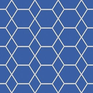 Casca Geometrico Sfondo Blu Navyargento Muriva 147507 Amazonit