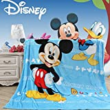 Blaze Children's Cartoon Printing Blanket Coral Fleece Blanket (59 By 79 Inch, Mickey Mouse)