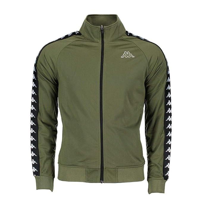 design di qualità 124d5 f7b02 Kappa Giacca Uomo 301EFU0C05 Poliestere Verde: Amazon.it ...