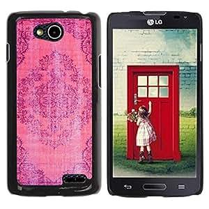 Paccase / SLIM PC / Aliminium Casa Carcasa Funda Case Cover para - Rustic Worn Out Carpet Indian Pink Purple - LG OPTIMUS L90 / D415