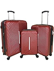 Cheergo PC 3 Piece Hardside Suitcase Luggage Set Expandable Spinner Trolley TSA Lock 20 24 28 inch